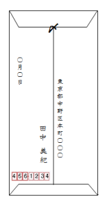メルカリ配送_封筒裏面