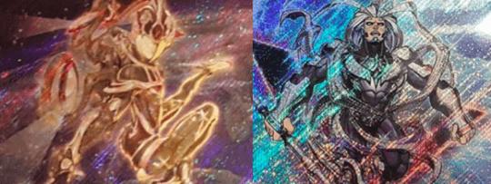 《Juno, the Celestial Goddess(天空の神ジュノー)》《Shelga, the Tri-Warlord(三角の将軍シェルガ)》