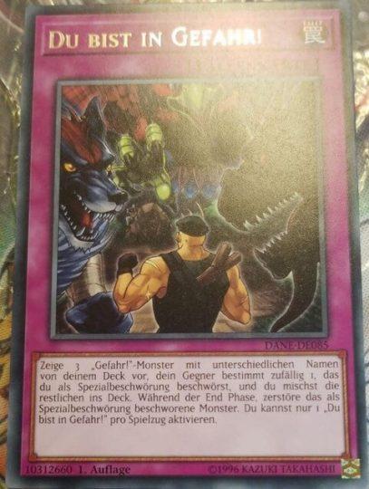 「Danger!」カード